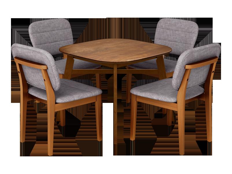 A Orbital 4 Seater Dining Table Set Walnut Color ...